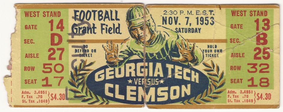 1953-11-07 - Georgia Tech vs. Clemson