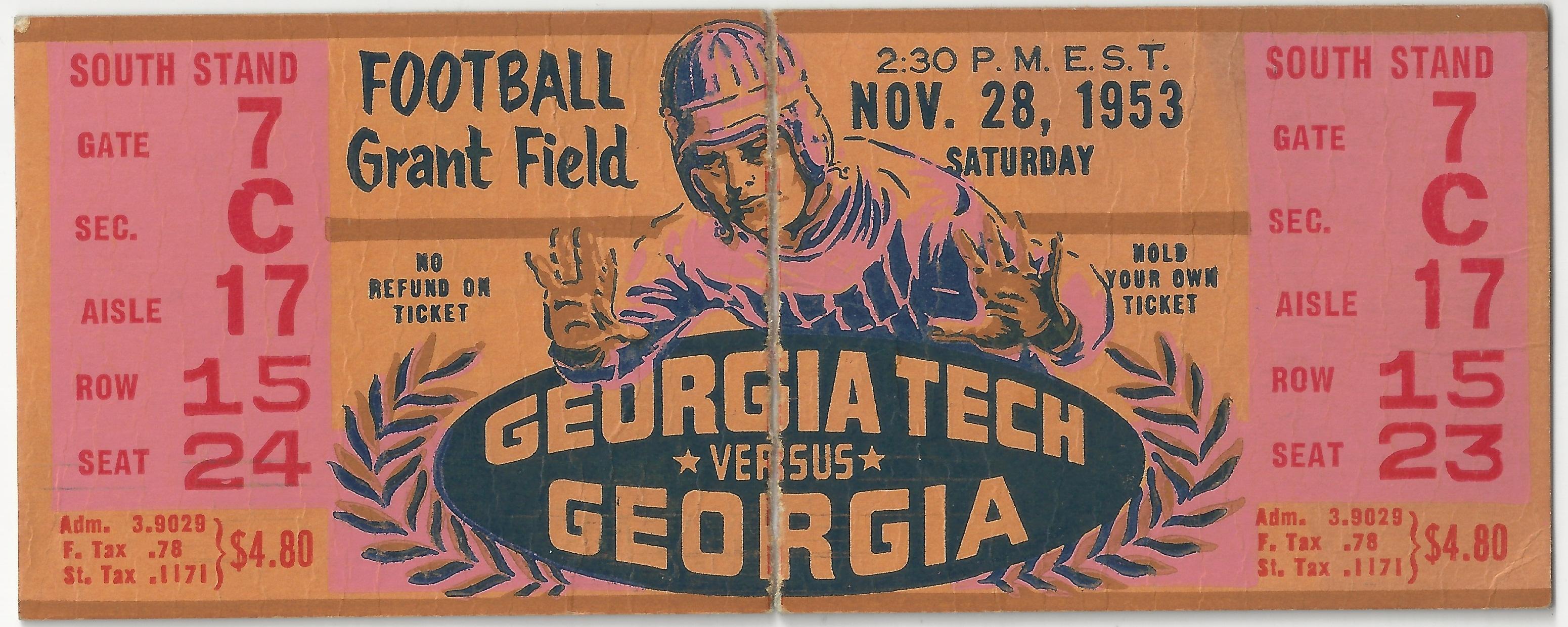 Georgia Tech vs. Georgia - 1953