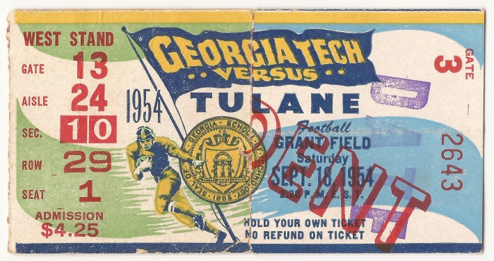 1954-09-18 - Georgia Tech vs. Tulane