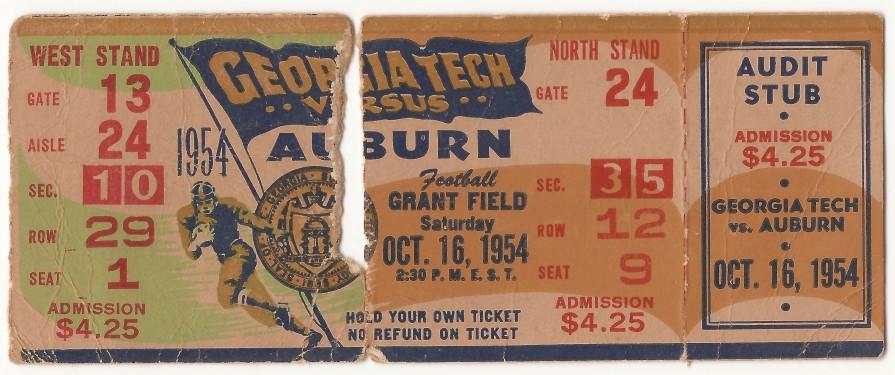 1954-10-16 - Georgia Tech vs. Auburn