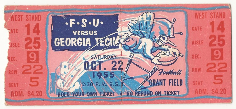 Georgia Tech vs. Florida State - 1955