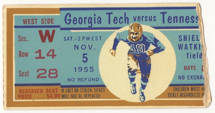 1955-11-05 - Georgia Tech at Tennessee