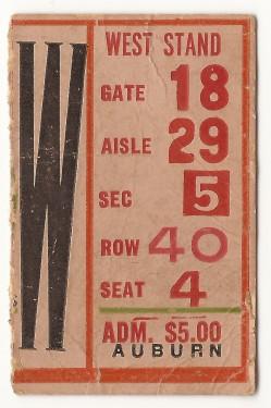 1958-10-18 - Georgia Tech vs. Auburn