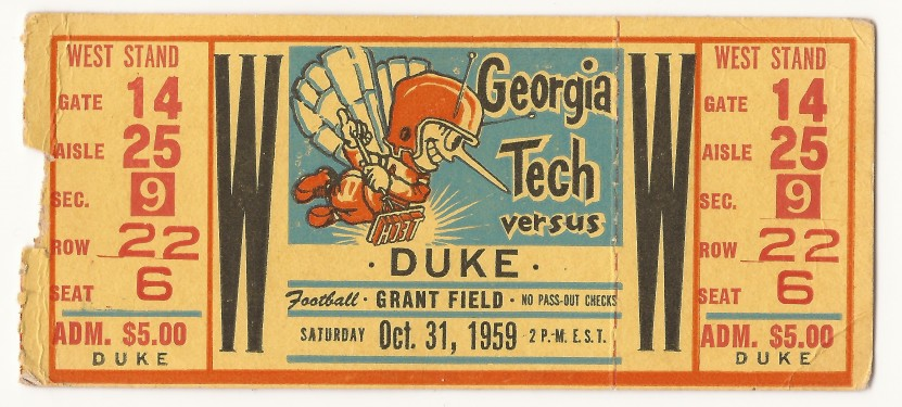 Georgia Tech vs. Duke - 1959