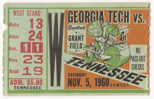 1960-11-05 - Georgia Tech vs. Tennessee