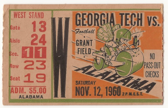 1960-11-12 - Georgia Tech vs. Alabama