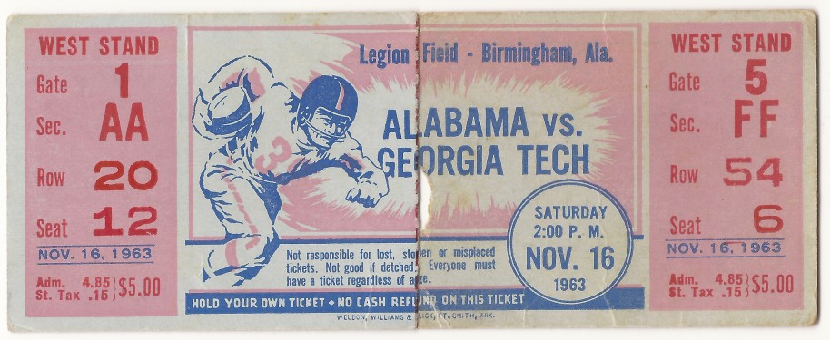1963-11-16 - Georgia Tech at Alabama