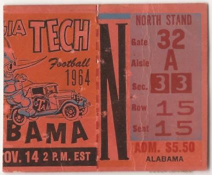 1964-11-14 - Georgia Tech vs. Alabama