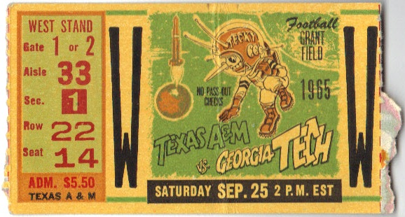 1965-09-25 - Georgia Tech vs. Texas A&M