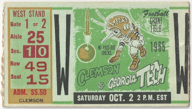 1965-10-02 - Georgia Tech vs. Clemson