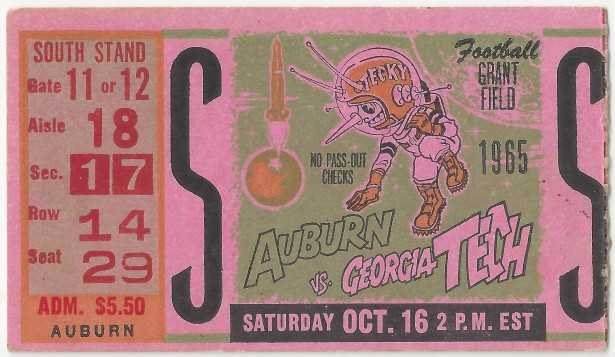 1965-10-16 - Georgia Tech vs. Auburn