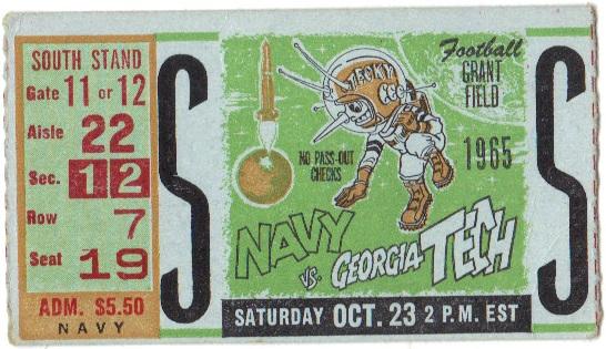 1965-10-23 - Georgia Tech vs. Navy