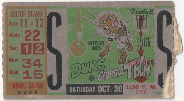 1965-10-30 - Georgia Tech vs. Duke