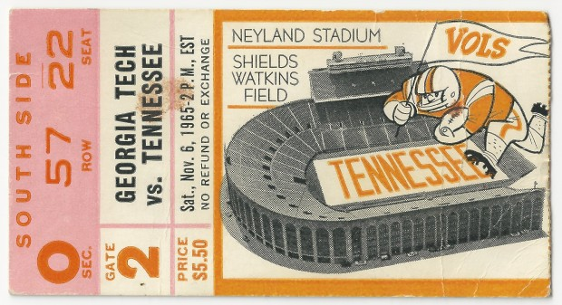 1965-11-06 - Georgia Tech at Tennessee