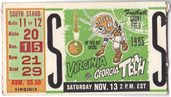 1965-11-13 - Georgia Tech vs. Virginia