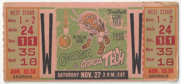 1965-11-27 - Georgia Tech vs. Georgia