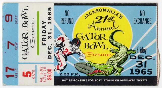 1965-12-31 - Georgia Tech vs. Texas Tech - Gator Bowl