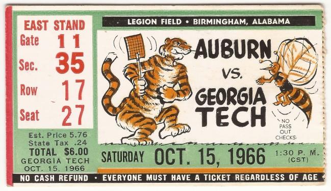 1966-10-15 - Georgia Tech at Auburn