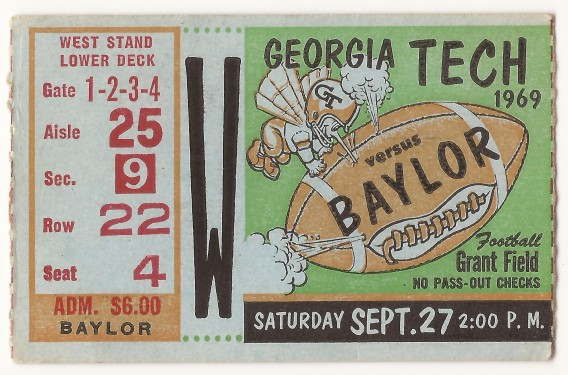 1969-09-27 - Georgia Tech vs. Baylor