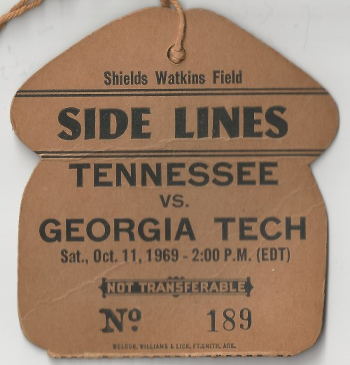 1969-10-11 - Georgia Tech at Tennessee - Sideline Pass