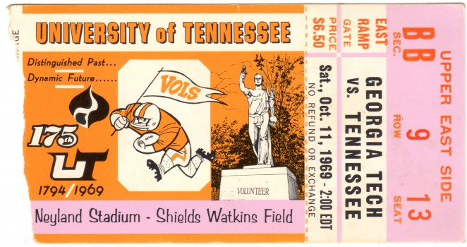 1969-10-11 - Georgia Tech at Tennessee