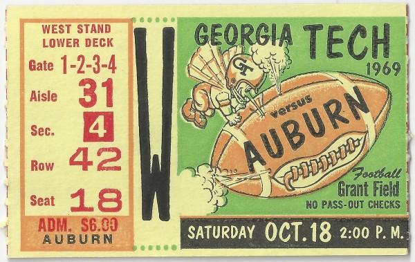 1969-10-18 - Georgia Tech vs. Auburn