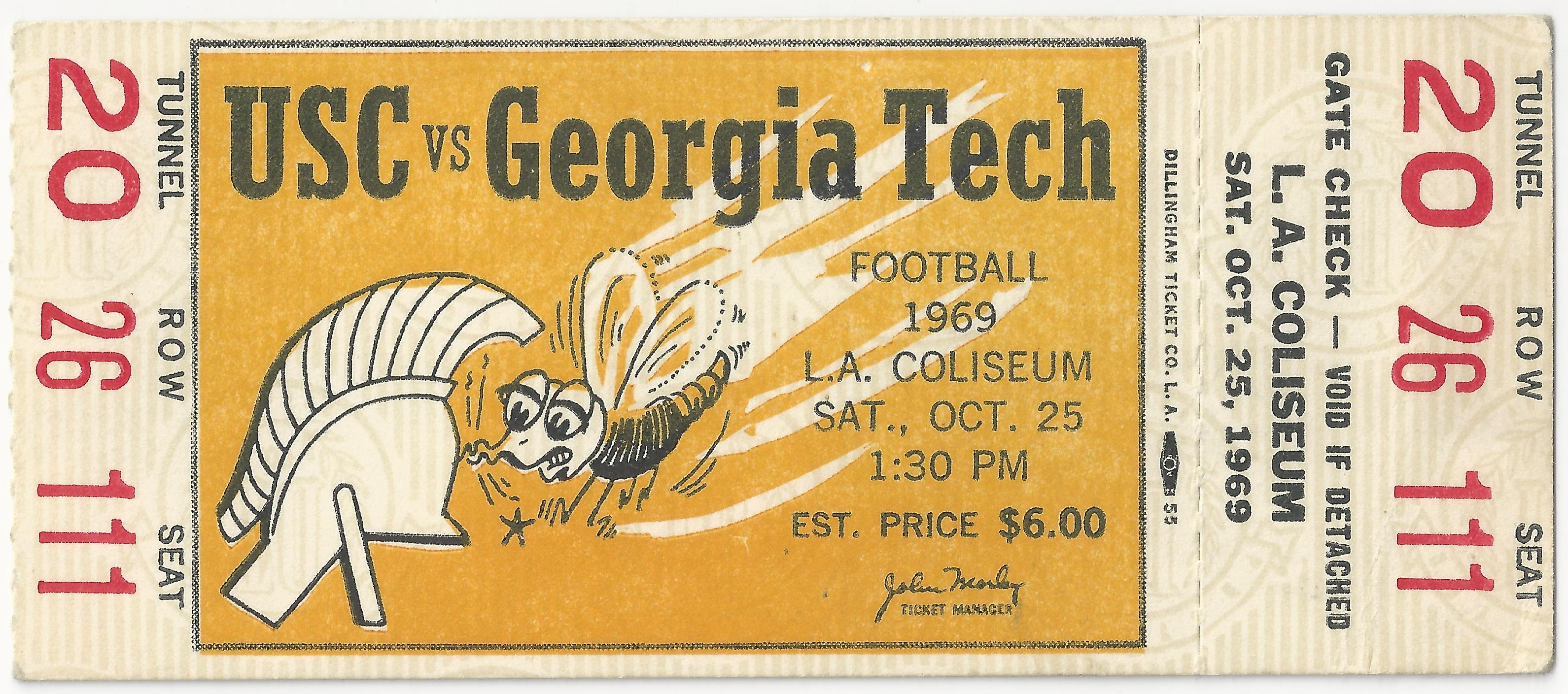 1969-10-25 - Georgia Tech at Southern California - Full