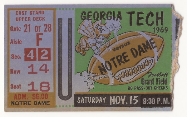 1969-11-15 - Georgia Tech vs. Notre Dame