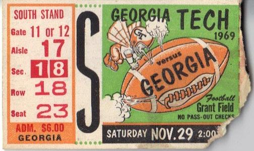 1969-11-29 - Georgia Tech vs. Georgia