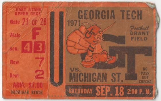1971-09-18 - Georgia Tech vs. Michigan State
