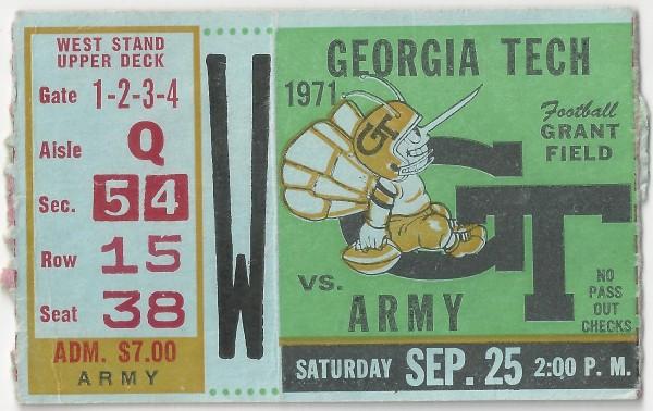 1971-09-25 - Georgia Tech vs. Army