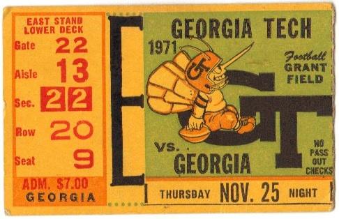 1971-11-25 - Georgia Tech vs. Georgia