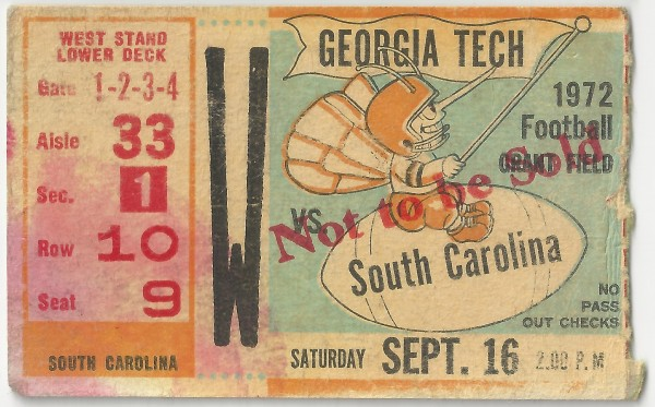1972-09-16 - Georgia Tech vs. South Carolina