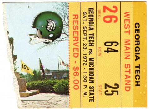 1972-09-23 - Georgia Tech at Michigan State