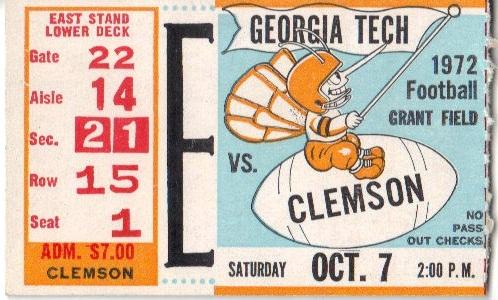 1972-10-07 - Georgia Tech vs. Clemson