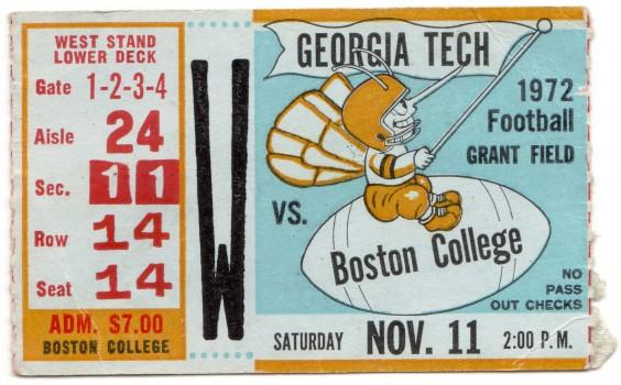 1972-11-11 - Georgia Tech vs. Boston College