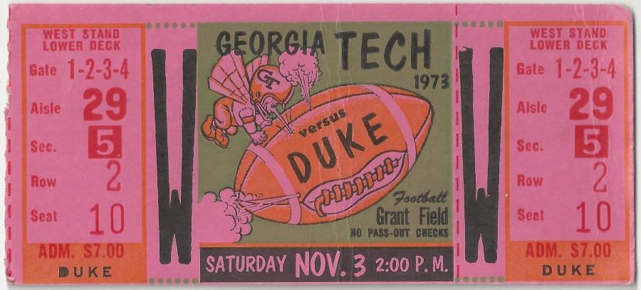 1973-11-03 - Georgia Tech vs. Duke
