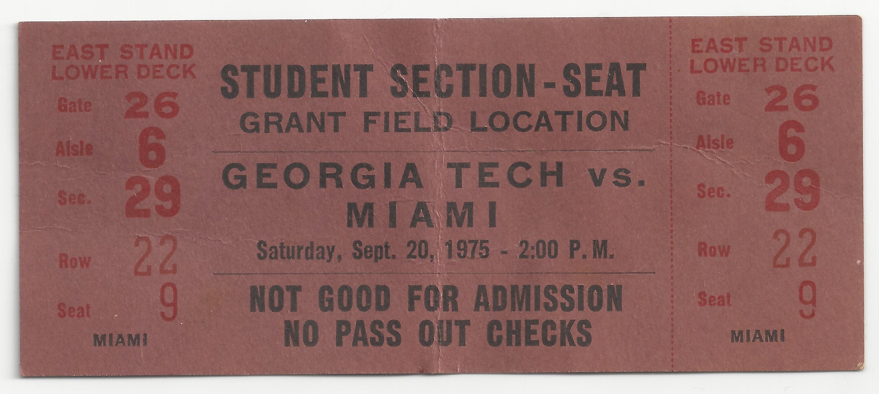 1975-09-20 - Georgia Tech vs. Miami - Student