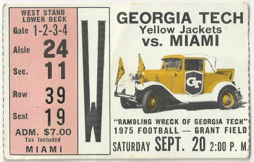 1975-09-20 - Georgia Tech vs. Miami