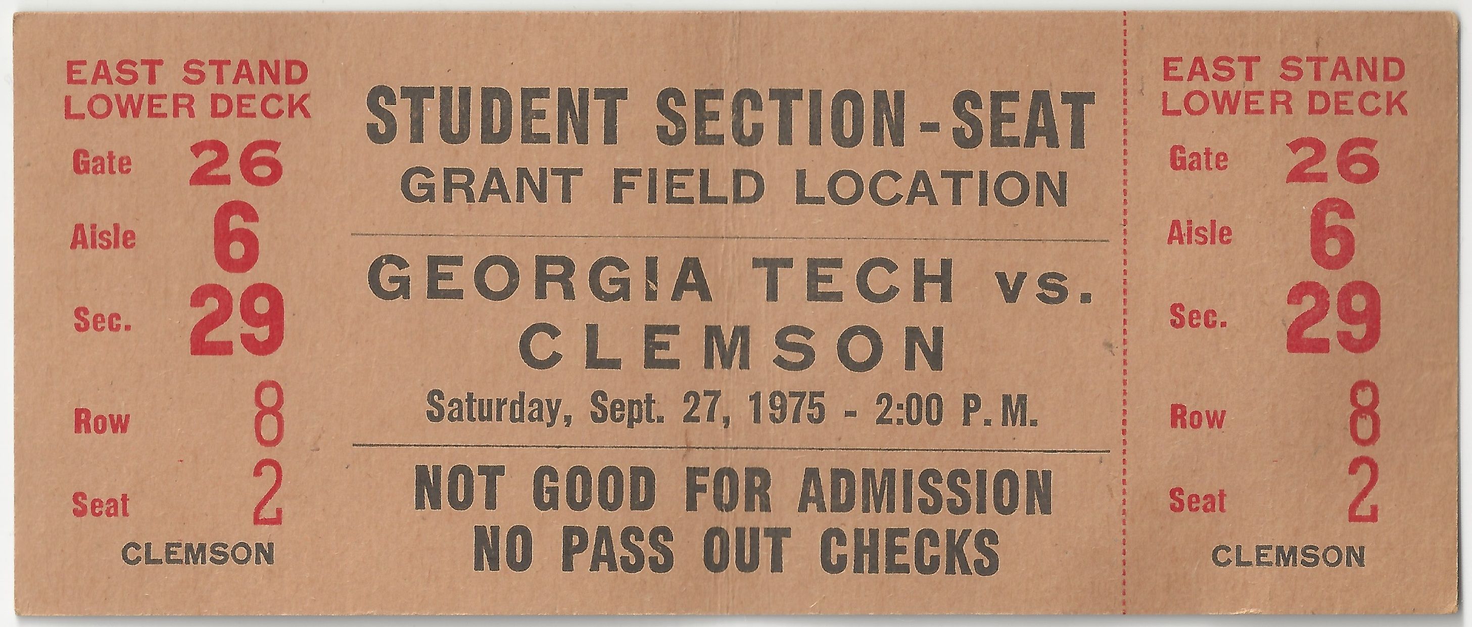 1975-09-27 - Georgia Tech vs. Clemson - Student