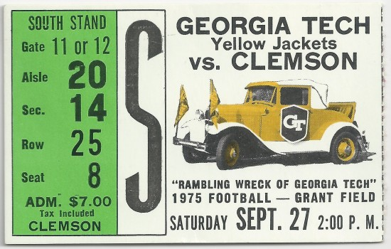 1975-09-27 - Georgia Tech vs. Clemson
