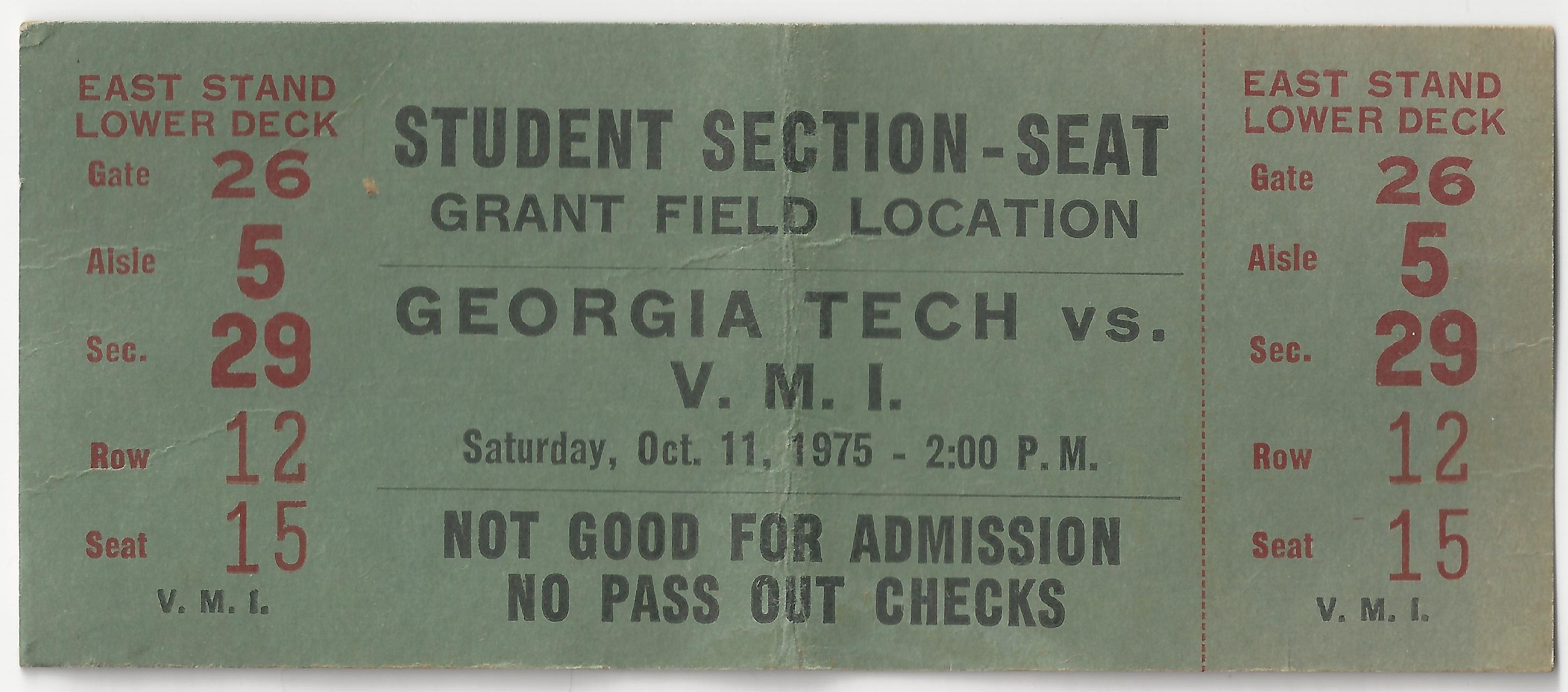1975-10-11 - Georgia Tech vs. Virginia Military Institute