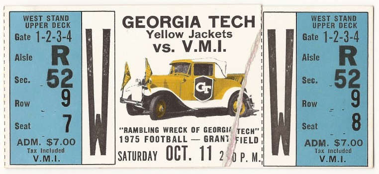 1975-10-11 - Georgia Tech vs. Virginia Military Institute