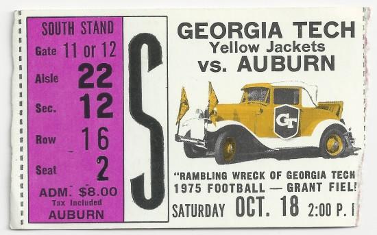 1975-10-18 - Georgia Tech vs. Auburn