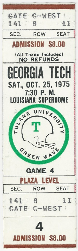1975-10-25 - Georgia Tech at Tulane