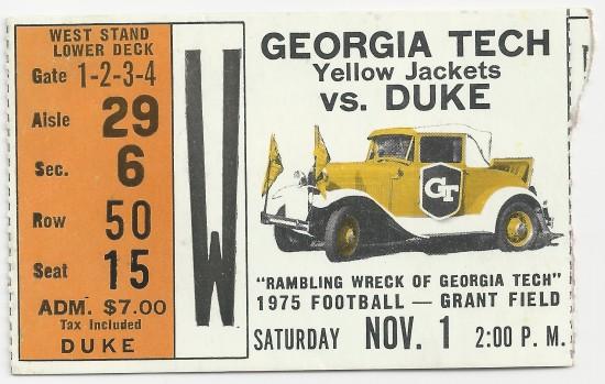 1975-11-01 - Georgia Tech vs. Duke
