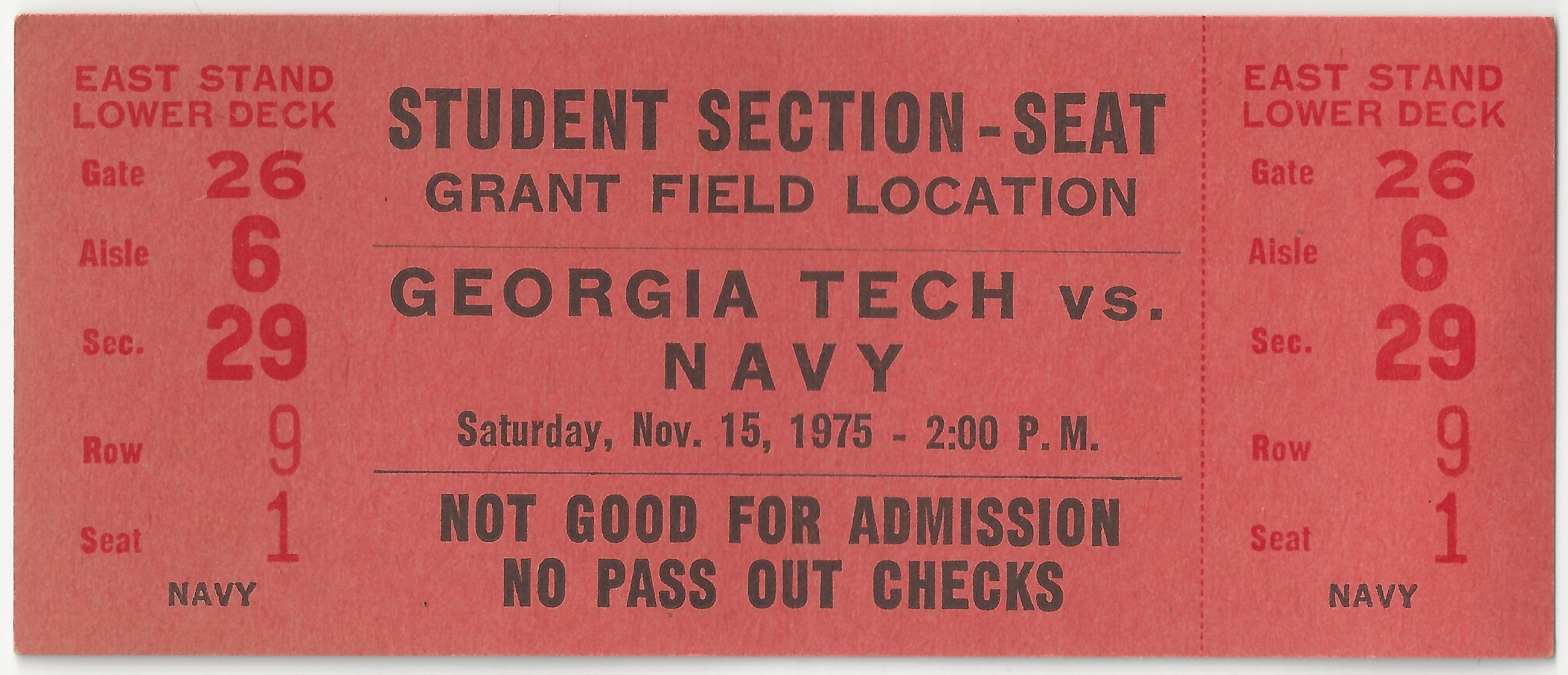 1975-11-15 - Georgia Tech vs. Navy - Student