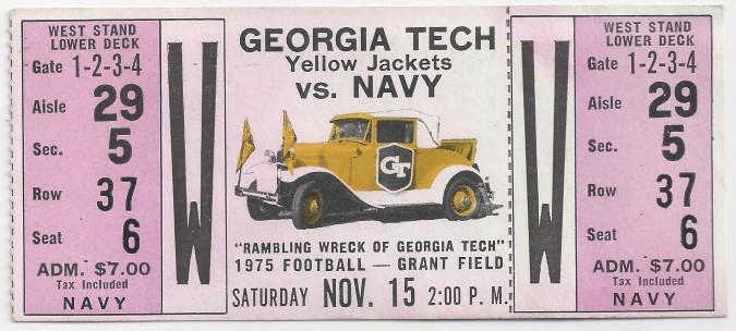 1975-11-15 - Georgia Tech vs. Navy