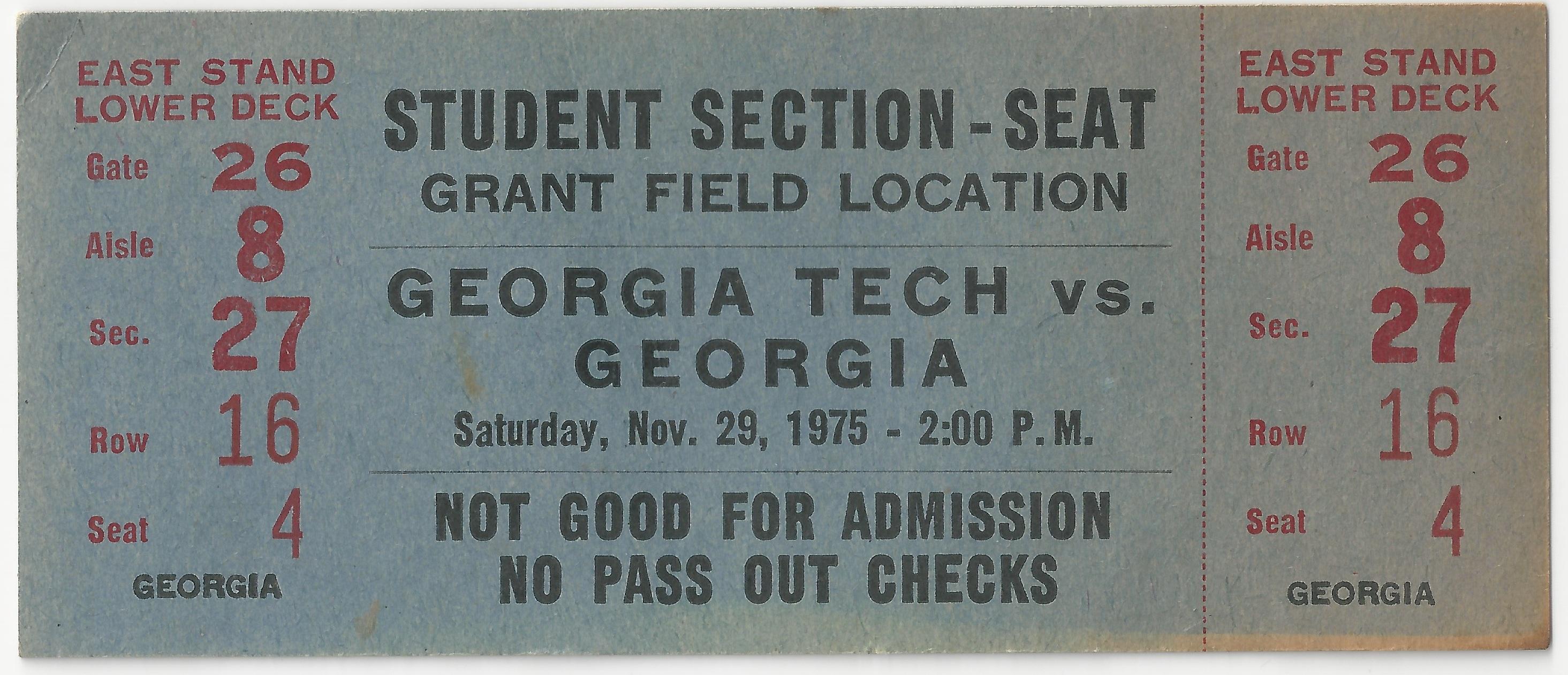 1975-11-29 - Georgia Tech vs. Georgia - Student 1