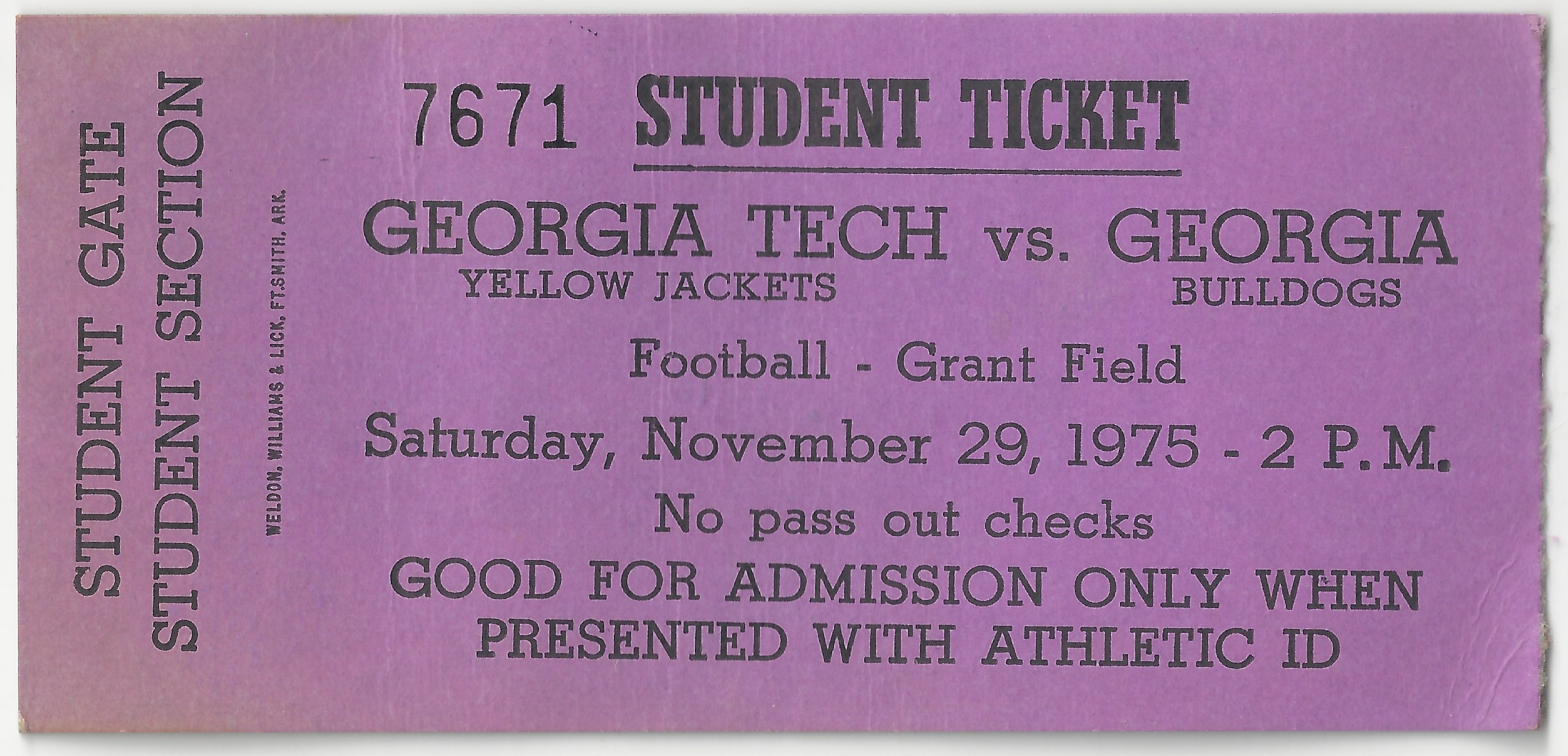 1975-11-29 - Georgia Tech vs. Georgia - Student 2